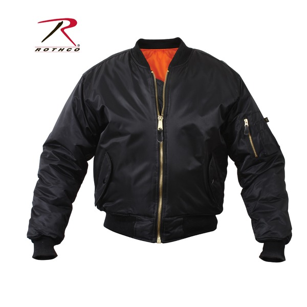 直送・代引不可ROTHCO(ロスコ) MA-1フライトジャケット ROGT7324 ブラック S別商品の同時注文不可