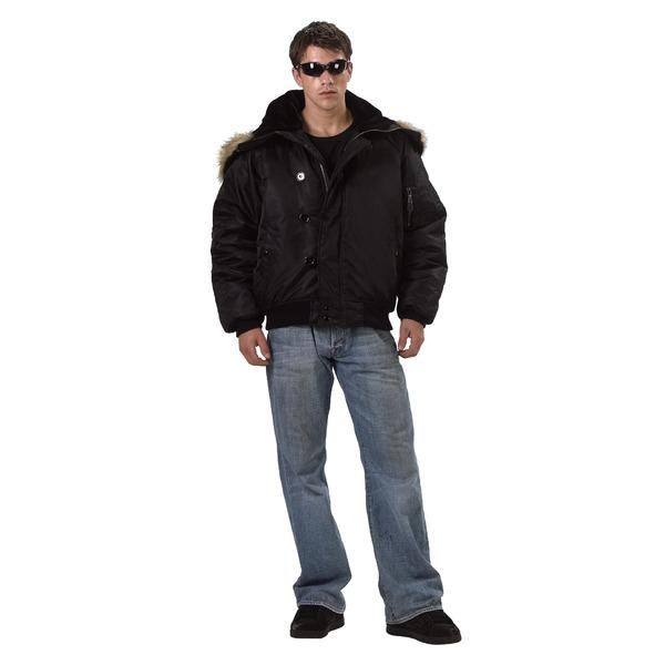 直送・代引不可ROTHCO(ロスコ) N-2Bフライトジャケット ROGT7190 ブラック L別商品の同時注文不可