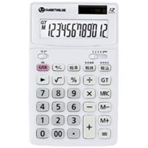 直送・代引不可(業務用5セット) ジョインテックス 中型電卓 ホワイト5台 K071J-5別商品の同時注文不可