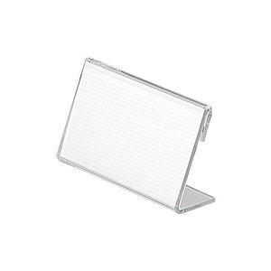 直送・代引不可(業務用300セット) プラス L型カード立 CT-110L別商品の同時注文不可