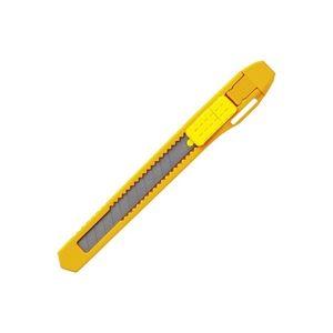 直送・代引不可(業務用50セット) プラス カッターナイフS CU-103 イエロー10本 ×50セット別商品の同時注文不可