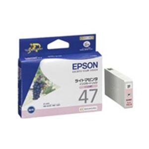 直送・代引不可(業務用40セット) EPSON エプソン インクカートリッジ 純正 【ICLM47】 ライトマゼンタ別商品の同時注文不可