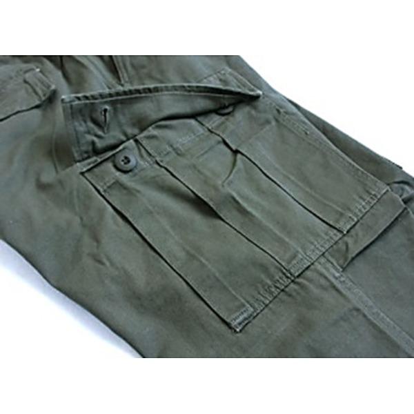 直送・代引不可アメリカ軍 BDU パンツ コットンスリムレプリカ オリーブ M別商品の同時注文不可