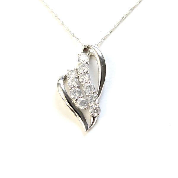 直送・代引不可 純プラチナ 1ct ダイヤモンド ネックレス ペンダント 別商品の同時注文不可