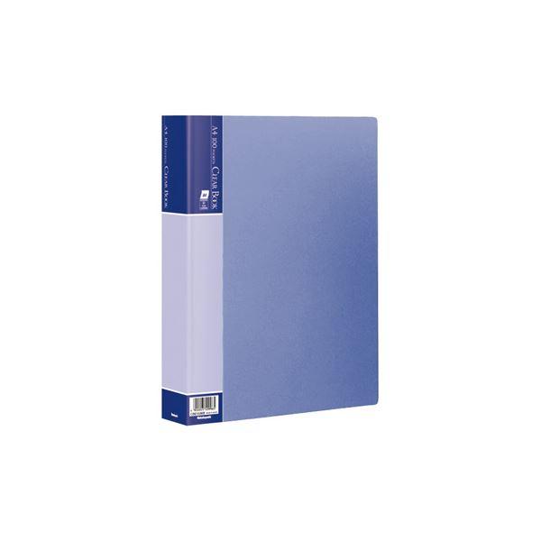 直送・代引不可(業務用セット) クリアブックE/ベーシックカラー A4 100P CBE-1036B ブルー【×10セット】別商品の同時注文不可