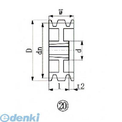 エバオン EVN SPB230-3 ブッシングプーリー SPB 230mm 溝数3