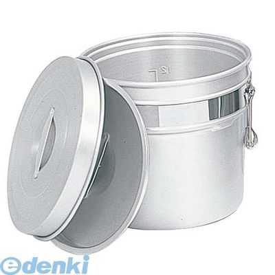 7782200 アルマイト 段付二重食缶 247-R 10L φ320×H215 4906211099177
