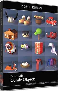 D3D-COOB 「直送」【代引不可・他メーカー同梱不可】 DOSCH DESIGN DOSCH 3D: Comic Objects【キャンセル不可】