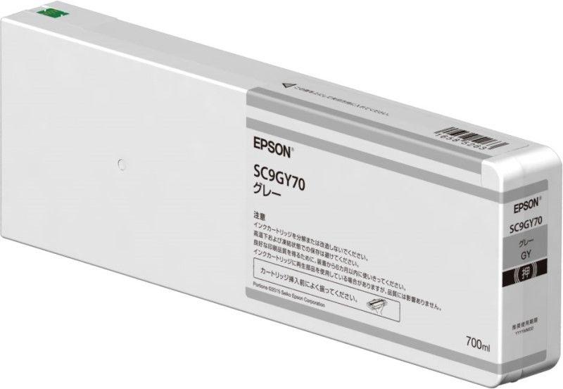 SC9GY70S 直送 代引不可・他メーカー同梱不可 エプソン 環境推進インク グレー/700ml/登録制 【キャンセル不可】