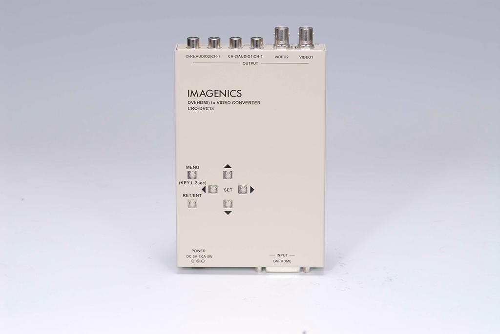 【キャンセル不可】CRO-DVC13 「直送」【代引不可・他メーカー同梱不可】 イメージニクス DVI(HDMI)入力アナログコンポジットビデオ変換器