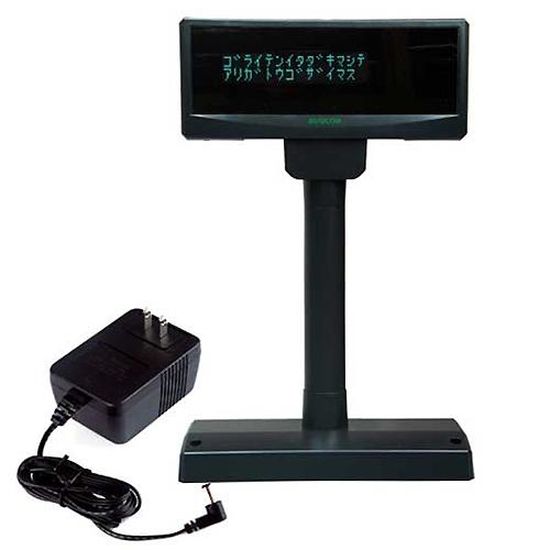 BC-VF3100U-B+PS3100 「直送」【代引不可・他メーカー同梱不可】 ビジコム BCカスタマディスプレイ(USB・黒)電源付セット <ビジコム> 【1入】