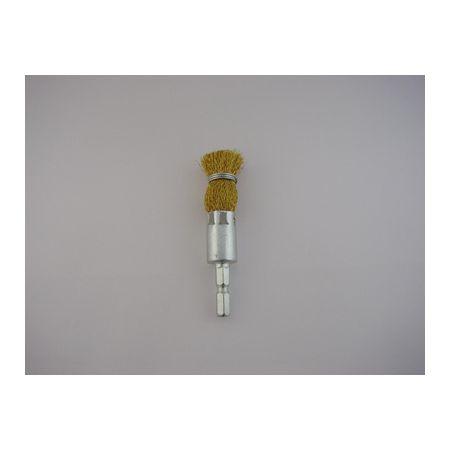 サンフレックス NO.4204H 六角軸筆型ワイヤーブラシ 真鍮 アウトレット☆送料無料 個数:1個 Φ15 セール品