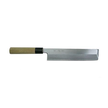 関兼常[G-21] 本匠 兼正 Gシリーズ 霞研 水牛口付 朴柄 和包丁 薄刃 G21