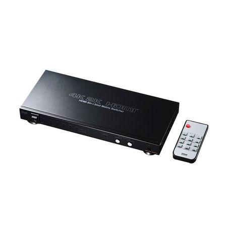サンワサプライ[SW-UHD62] HDMI切替器【6入力2出力・マトリックス切替機能付き】 SWUHD62