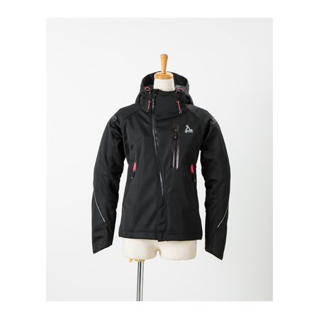 J-AMBLE[4580412702328] urbanism フーディーメッシュレディースジャケット BLACK S UNJ-054W