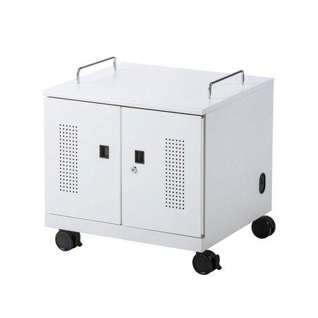 【個数:1個】サンワサプライ[CAI-CAB105W] ノートパソコン収納キャビネット【6台収納】 CAICAB105W