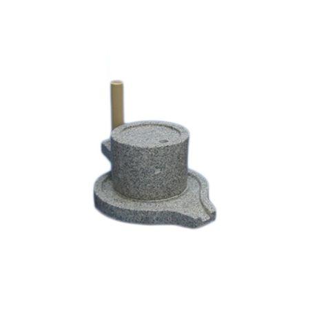 2342 ナガノ産業 みかげ石 皿型挽き臼 18型 臼18cm