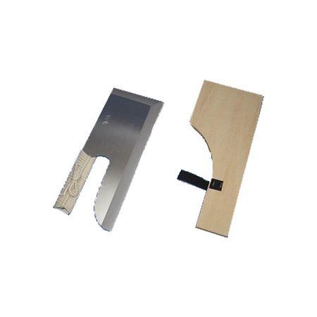 2405 ナガノ産業 鋼付めん切り包丁 磨き ひも巻 30cm