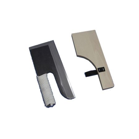 2407 ナガノ産業 鋼付めん切包丁 黒 ひも巻 30cm