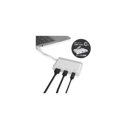 エレコム ELECOM DST-C06WH USB Type-C接続モバイルドッキングステーション DSTC06WH