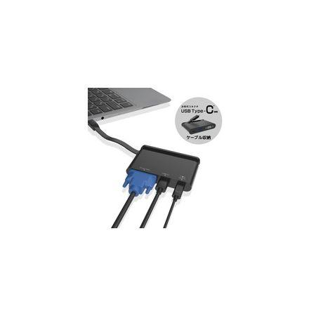 エレコム ELECOM DST-C07BK USB Type-C接続モバイルドッキングステーション DSTC07BK
