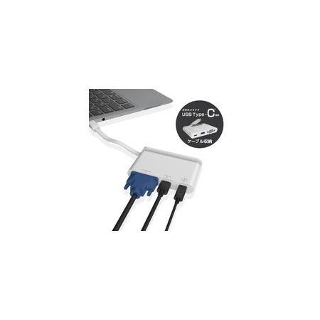 エレコム ELECOM DST-C07WH USB Type-C接続モバイルドッキングステーション DSTC07WH