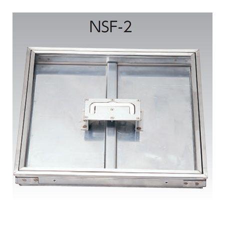 低価格の アウス 4580504015787 NSF−2 400 床点検口・オールステンレス【モルタル用】:測定器・工具のイーデンキ-木材・建築資材・設備