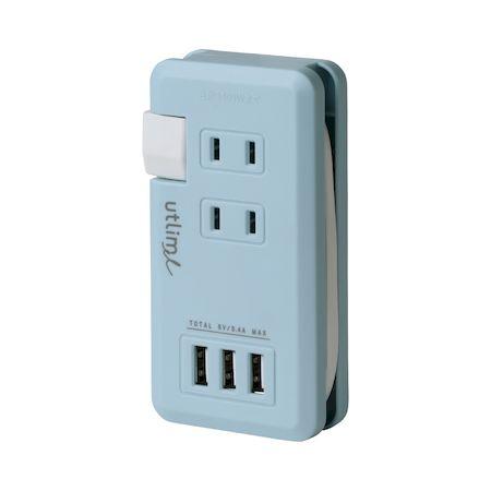 ソニック UL-5010-LB ポータブルコンセント USBポート付 贈り物 ユートリムエル オンラインショッピング UL5010LB 予約受付中 10月上旬以降入荷予定 ライトブルー