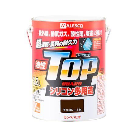 カンペハピオ[00017640241032]油性トップガード チョコレート色 3.2L