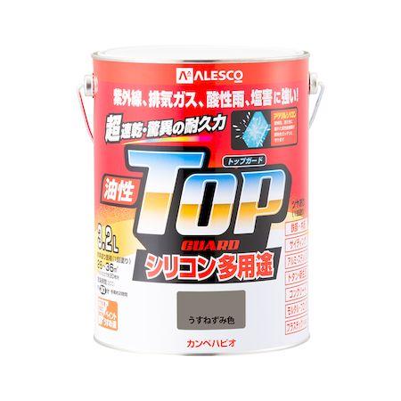カンペハピオ[00017640431032]油性トップガード うすねずみ色 3.2L