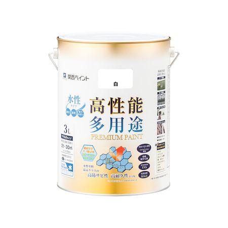 カンペハピオ[00027650011030]プレミアム水性塗料 白 3L