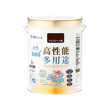 カンペハピオ[00027650241030]プレミアム水性塗料 チョコレート色 3L