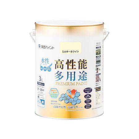 カンペハピオ[00027650511030]プレミアム水性塗料 ミルキーホワイト 3L
