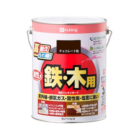 カンペハピオ[00037640241030]油性ウレタンガード チョコレート色 3L