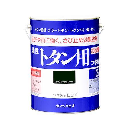 カンペハピオ[00147641041030]油性トタン用 ニューフレッシュグリーン 3L