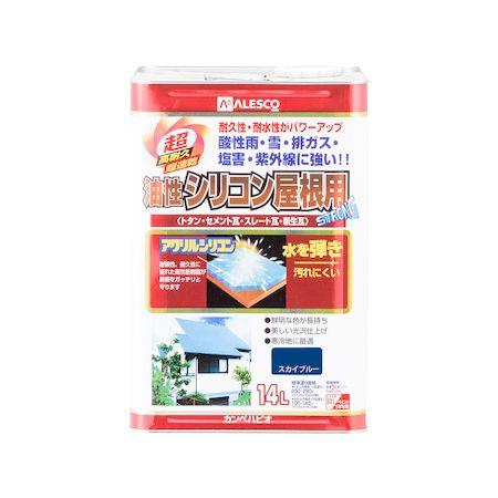 カンペハピオ 00167640641140 油性シリコン屋根用 スカイブルー 14L