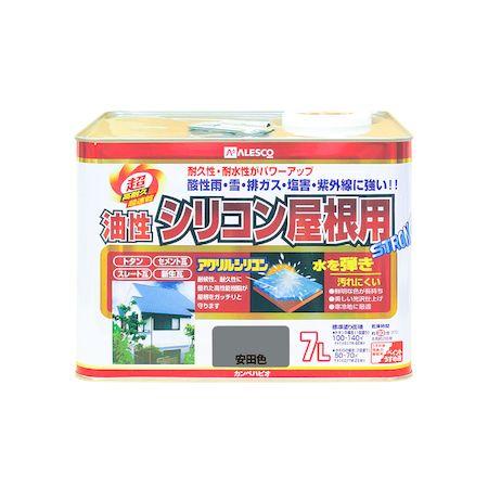 カンペハピオ 00167645171070 油性シリコン屋根用 安田色 7L