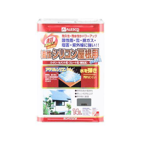 カンペハピオ 00167645171140 油性シリコン屋根用 安田色 14L