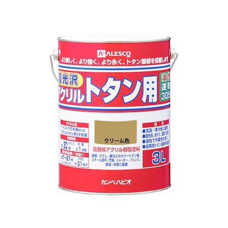 カンペハピオ[00187640111030]アクリルトタン用 クリーム色 3L