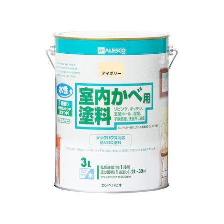 カンペハピオ[00317650071030]室内かべ用塗料 アイボリー 3L