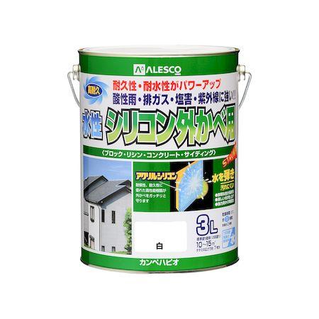 カンペハピオ[00427650011030]水性シリコン外かべ用 白 3L