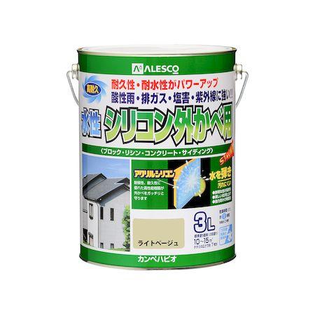 カンペハピオ[00427650221030]水性シリコン外かべ用 ライトベージュ 3L