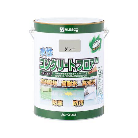 カンペハピオ[00467655091034]水性コンクリートフロア用 グレー 3.4L