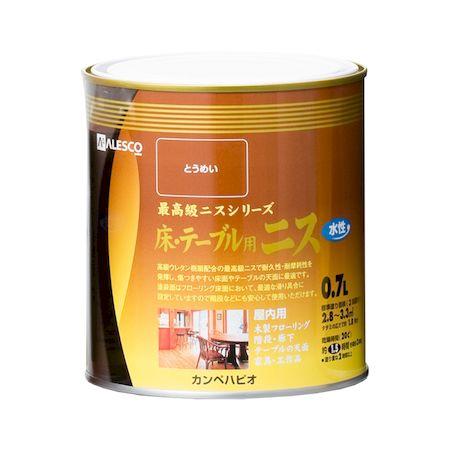 カンペハピオ[00687654001007]水性ウレタン床・テーブル用ニス とうめい 0.7L