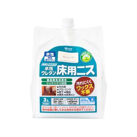 カンペハピオ[00717653601030]水性ウレタン床用ニス 3分つやとうめい 3L