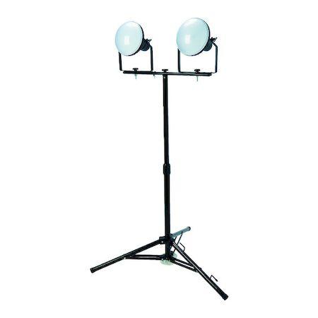 TRUSCO DELKURO 5m アース付 LED投光器 三脚タイプ RTLE-505EP-SK2 2芯3芯両用タイプ 50W RTLE505EPSK2 2灯