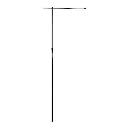 緑十字 安い 激安 プチプラ 高品質 (訳ありセール 格安) 255102 のぼり用ポール のぼり竿 全長1600~2900mm 2段伸縮式 黒