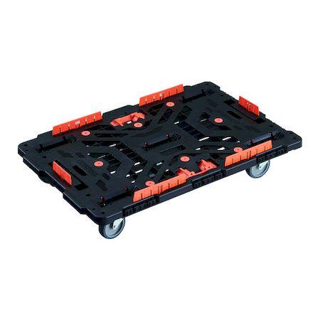 TRUSCO 低価格化 BT900KJ5-E100T ご注文で当日配送 連結式樹脂製平台車 ビートル 900X600 自在5輪 柵 とめたろう付 BT900KJ5E100T