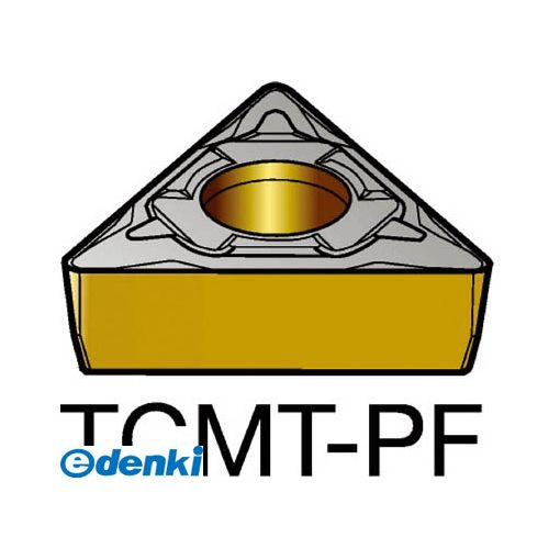 【あす楽対応】サンドビック SV TCMT06T102-PF1515 【10個入】 コロターン107 旋削用ポジ・チップ 1515 COATTCMT06T102PF87161515