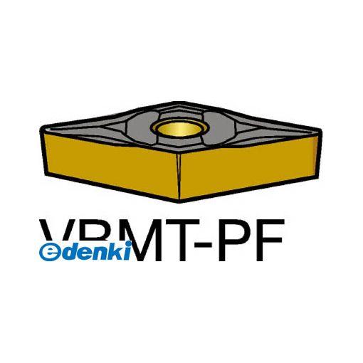 サンドビック SV VBMT160404-PF1515 【10個入】 コロターン107 旋削用ポジ・チップ 1515 COATVBMT160404PF87161515